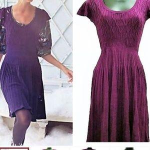 anthro/sparrow plum sweater dress